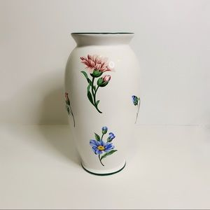 Tiffany & Co. White Floral Sintra 90s Vase